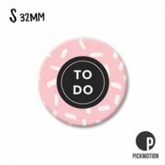 koelkastmagneet pickmotion - to do - roze