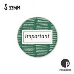 koelkastmagneet pickmotion - important - groen