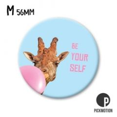 koelkastmagneet pickmotion - be your self - giraffe en ballon