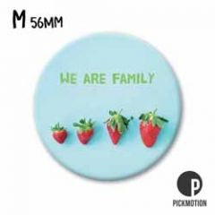 koelkastmagneet pickmotion - we are family - aardbeien