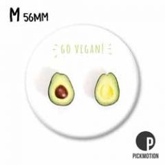 koelkastmagneet pickmotion - go vegan! - avocado