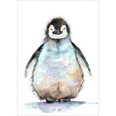 wenskaart cath ward - pinguin