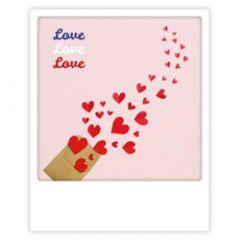 ansichtkaart instagram pickmotion - love love love