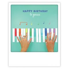 ansichtkaart instagram pickmotion - happy birthday to youuu - piano
