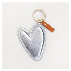 grote sleutelhanger - tashanger - hart zilver van caroline gardner
