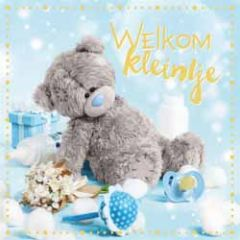 3d geboortekaart - lenticulaire kaart - me to you - welkom kleintje - blauw