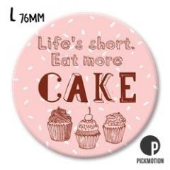koelkastmagneet pickmotion - life is short eat more cake