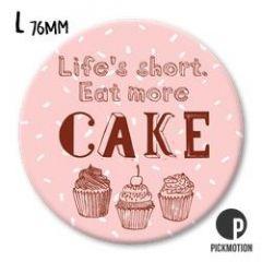 koelkastmagneet pickmotion - life is short eat more cake