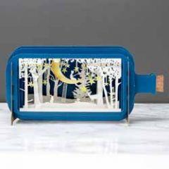 3D pop up wenskaart - message in a bottle - sterren vangen