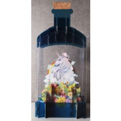 message in a bottle - 3d art kaart - eenhoorn