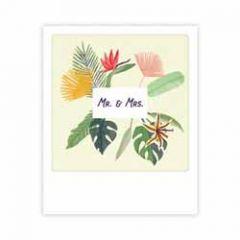 ansichtkaart pickmotion mini-picks - mr. & mrs. - planten