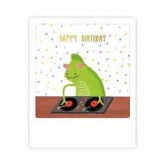 ansichtkaart pickmotion mini-picks - happy birthday - dj