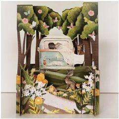 3d pop-up trouwkaart miniature greetings - mr mrs