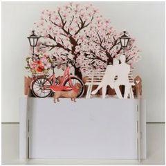 3d pop-up kaart miniature greetings - stelletje op bank | muller wenskaarten