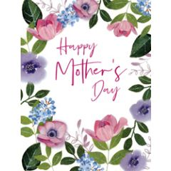 3d pop-up moederdagkaart A4 - happy mother's day - bloemen en vlinders