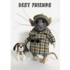 santoro tiny squee mousies wenskaart - best friends