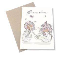 wenskaart mouse & pen - summertime - fiets