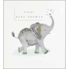 zwangerschapskaart the proper mail company - happy baby shower - olifant
