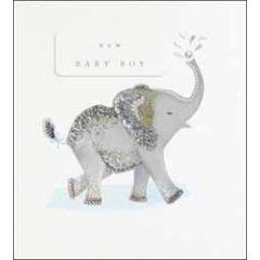 geboortekaartje the proper mail company - new baby boy - olifant