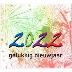 10 nieuwjaarskaarten muller wenskaarten - 2022 gelukkig nieuwjaar - vuurwerk groen rood