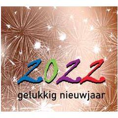 10 nieuwjaarskaarten muller wenskaarten - 2022 gelukkig nieuwjaar - vuurwerk koper