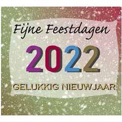 10 kerstkaarten muller wenskaarten - 2022 fijne feestdagen gelukkig nieuwjaar