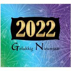 10 nieuwjaarskaarten muller wenskaarten - 2022 gelukkig nieuwjaar - vuurwerk goud