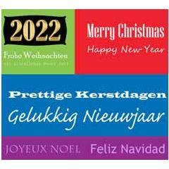 10 kerstkaarten muller wenskaarten - 2022 prettige kerstdagen merry christmas - talen