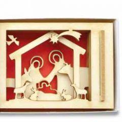 mini luciferdoosje kerst - vrolijk kerstfeest - kerststal