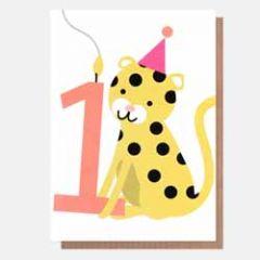 1 jaar - verjaardagskaart caroline gardner - neo-pops - tijger