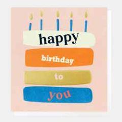 verjaardagskaart caroline gardner - happy birthday to you - taart