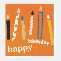 verjaardagskaart caroline gardner - happy birthday - kaarsjes