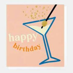 verjaardagskaart caroline gardner - happy birthday - cocktail