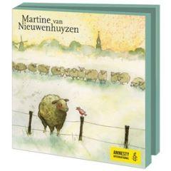 10 wenskaarten voor amnesty international - martine van nieuwenhuyzen - schapen