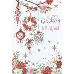 10 luxe nieuwjaarskaarten - gelukkig nieuwjaar - bloemen