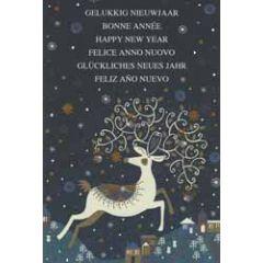 10 luxe nieuwjaarskaarten - gelukkig nieuwjaar happy new year - hert