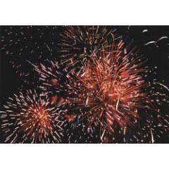 nieuwjaars ansichtkaart - vuurwerk