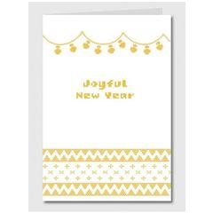 nieuwjaarskaart papette - joyful new year Muller wenskaarten