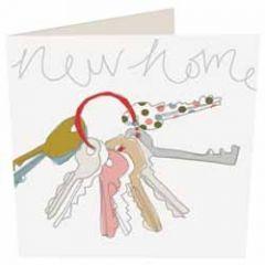 wenskaart caroline gardner - new home - sleutels