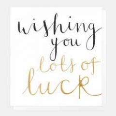 wenskaart caroline gardner - wishing you lots of luck