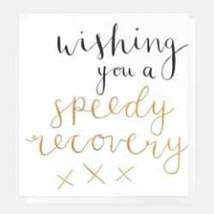 wenskaart caroline gardner - wishing you a speedy recovery - beterschap