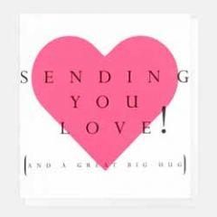 wenskaart caroline gardner - sending you love and a great big hug
