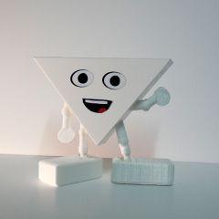 hophew - wit poppetje van bioplastic en 3d-kaart ineen