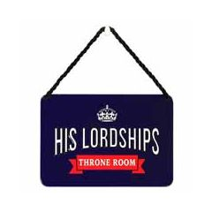 tinnen bordje met quote - hang-ups! - tekstbordje - his lordships throne room