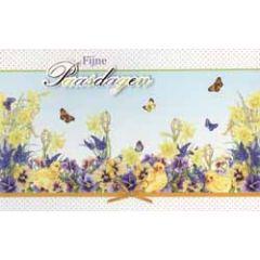 paaskaart - fijne paasdagen - bloemen