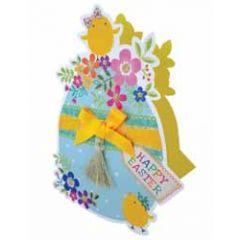 3d paaskaart paper dazzle - happy easter - paasei