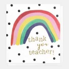 wenskaart caroline gardner - thank you teacher!