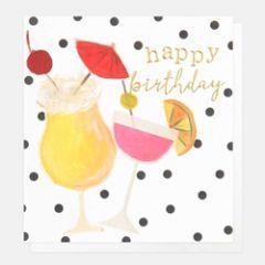 wenskaart caroline gardner - happy birthday - cocktails