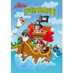 verjaardagskaart A4 - ahoi piraat