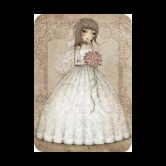 ansichtkaart santoro - de bruid